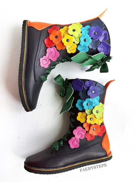 TINKER Boot, Midnight Rainbow, Made To Order