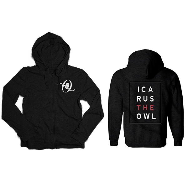 Icarus The Owl Logo Zip-Up Hoodie