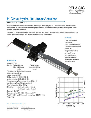 Hydraulic Linear Actuator - Heavy