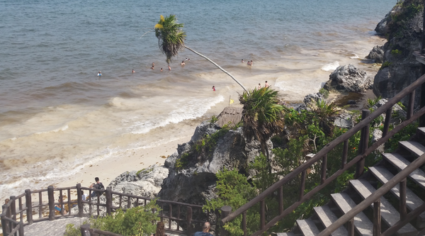 beach photo taken by pure by luce founder Loes when she was in Tulum (Mexico) in 2015