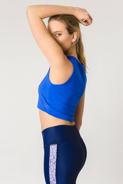 gugu blue - crop top