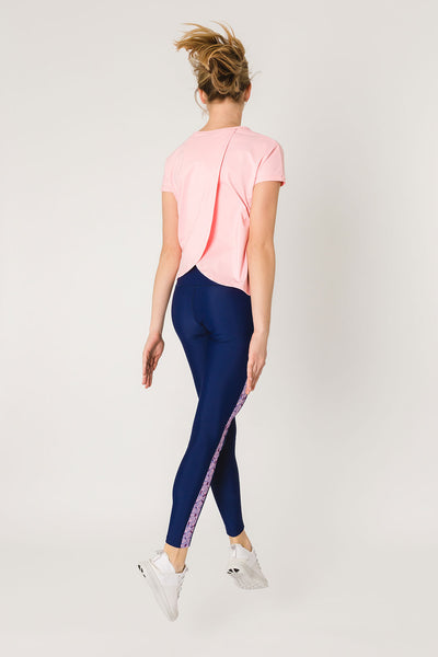 Susan Pink - T-shirt with open back