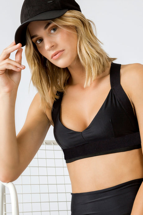 Charo Black - sportsbra top