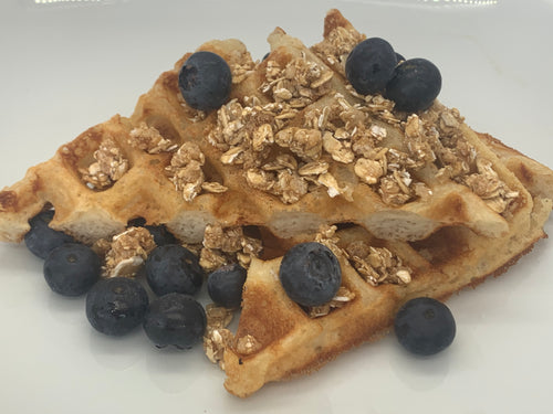 Breakfast - (Mon-Fri) Blueberry-Granola Banana Protein Waffle