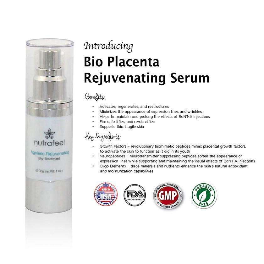 Nutrafeel Anti Aging Rejuvenating Bio-Treatment Serum Bio Placenta - Ageless Rejuvenating BIO-TREATMENT | Anti - Aging Age Reversal Formula