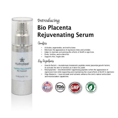 Bio Placenta - Ageless Rejuvenating BIO-TREATMENT | Anti - Aging Age Reversal Formula - NutraFeel