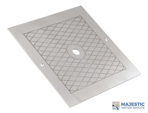 "Russo <br> 10"" Square Skimmer Lid - Stainless Steel"