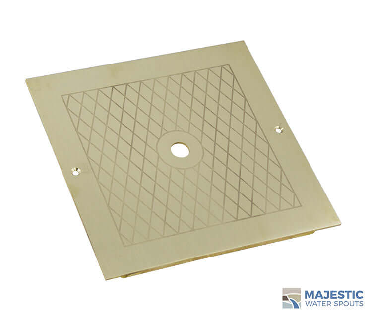 "Russo <br>10"" Square Skimmer Lid - Brass"