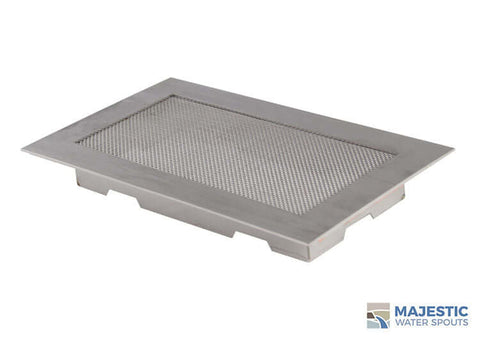 "10"" x 6"" Square Splash Guard - Stainless Steel"