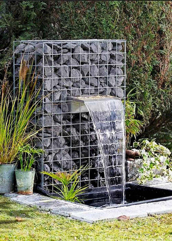 "Zanardi<br>12"" Open Top Waterfall Spillway - Stainless Steel"