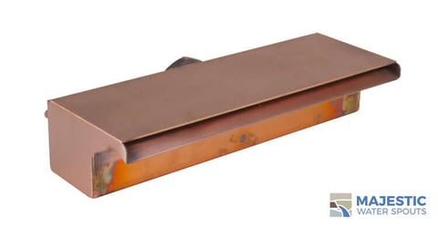 "Sutton<br>12"" Smooth Water Waterfall Spillway -  Copper"