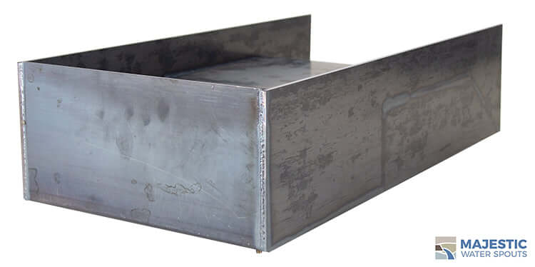Distressed steel block 12 inch water spillway for pool and spam water feature