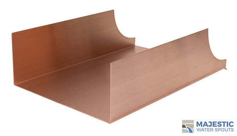 "Monaco <br> 12"" Spa-to-Pool/Fountain Spillway - Copper"