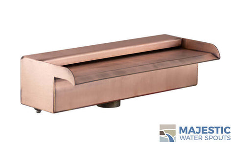 "Nakano <br> 12"" Waterfall Spillway - Copper"