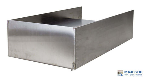 12 inch open top spillway scupper for pool spa water feature in stainless steel