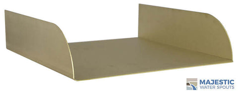 "Lombardi <br> 12"" Spa-to-Pool/Fountain Spillway - Brass"