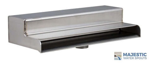 "Sutton <br> 10"" Shower Waterfall Scupper - Brushed Stainless Steel"