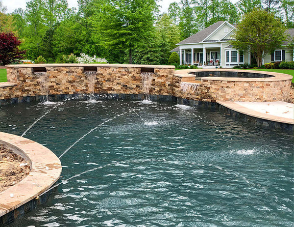 Picard 8 Quot Cascading Water Scupper Copper Pool