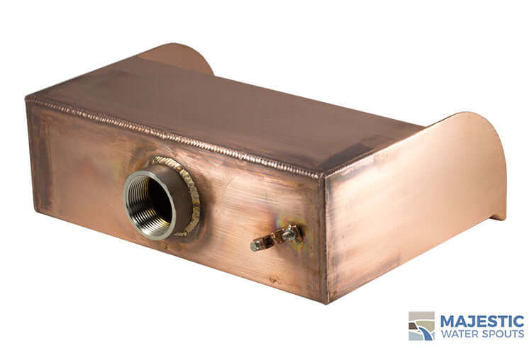 "Picard <br> 12"" Cascading Scupper - Copper"
