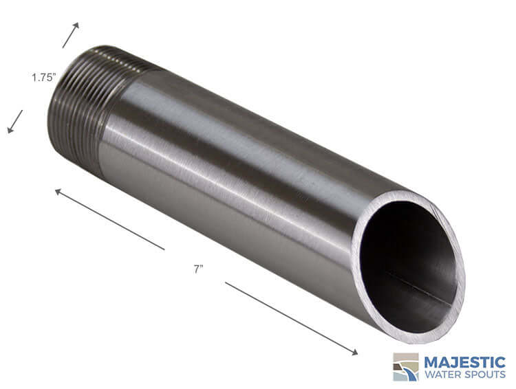 Stainless Steel 1.5 inch round tube water spout for pool and water fountain