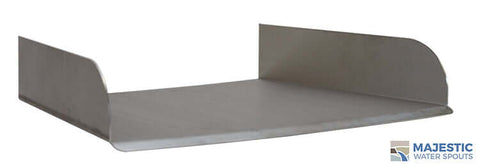 "Lombardi <br> 18"" Curved Spa/Fountain Spillway - Stainless Steel"