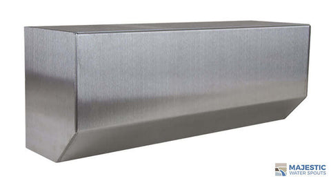 "Barton <br> 18"" Glass Wall Waterfall Spillway - Stainless Steel"