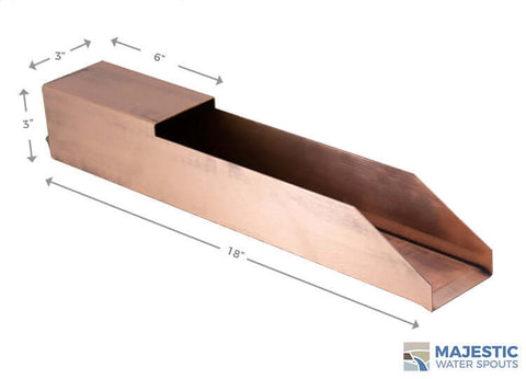"Oliveria <br> 18"" Waterfall Scupper - Copper"