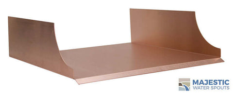 "Monaco <br> 18"" Spa-to-Pool/Fountain Spillway - Copper"