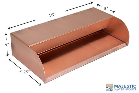 "Picard <br> 18"" Cascading Scupper - Copper"
