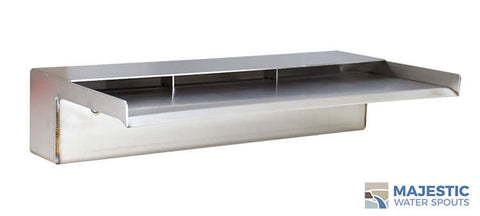 "Zanardi <br> 18"" Open Top Waterfall Spillway - Stainless Steel"