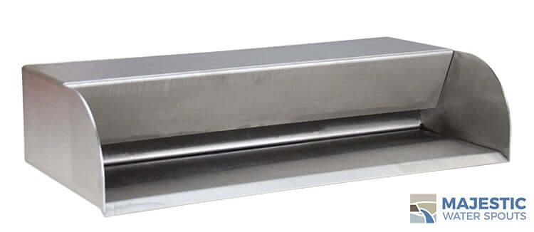 "Picard <br> 18"" Cascading Scupper - Stainless Steel"