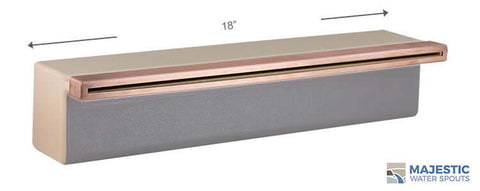 "Tomaso <br> 18"" Classic Vanity Cover - Copper"