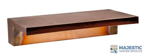 "Zanardi <br> 18"" Closed Top Waterfall Spillway - Copper"