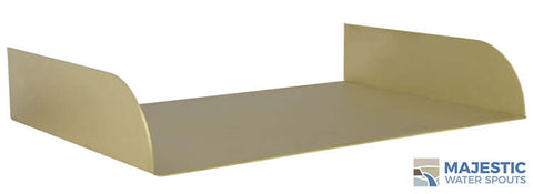 "Lombardi <br> 18"" Spa-to-Pool/Fountain Spillway - Brass"