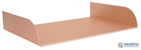 "Lombardi <br> 18"" Spa-To-Pool/Fountain Spillway - Copper"
