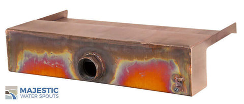 "18"" Copper Open Top Spillway by Majestic Water Spouts"