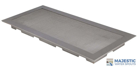 "18"" x 8"" Square Splash Guard - Stainless Steel"
