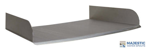 "Lombardi <br> 24"" Curved Spa/Fountain Spillway - Stainless Steel"