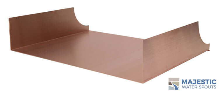 "Monaco <br> 24"" Spa-to-Pool/Fountain Spillway - Copper"