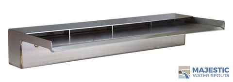 "Zanardi <br> 24"" Open Top Waterfall Spillway - Stainless Steel"