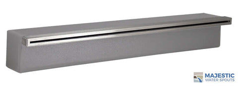 "Tomaso<br>24"" Smooth Water Spillway - Gray"