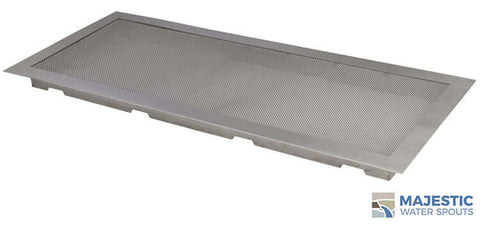 "24"" x 10"" Square Splash Guard - Stainless Steel"