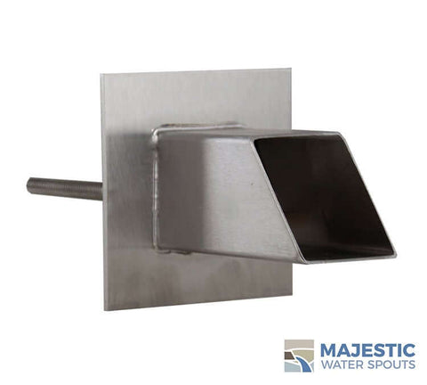 "Gallant <br> 2"" Square Water Spout - Stainless Steel"