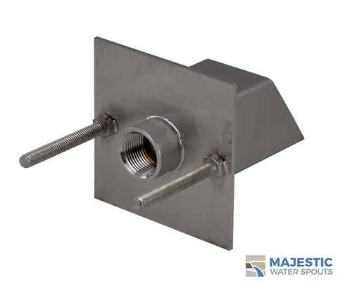 Square Stainless Steel Water Spout for Pool or Fountain by Majestic Water Spouts