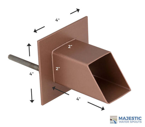 Copper Water Spout Mask for Pool or Fountain by Majestic Water Spouts