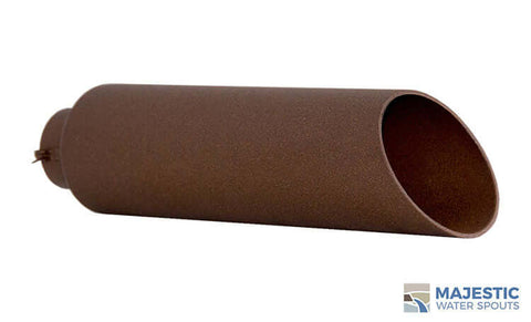 "Beretta <br> 2"" Round Water Spout - Textured Rust"