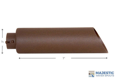 2 Inch Beretta Brown Water Spout for Pool or Spa Water Fountain