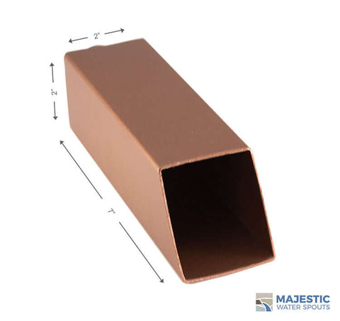 2 Inch Copper Square Water spout by Majestic Water Spouts