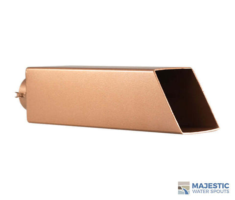 Copper 2 inch square water spout for fountain pool and spa by Majestic Water Spouts