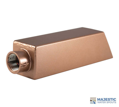 "Ericsson <br> 2"" Square Water Spout - Copper Style"